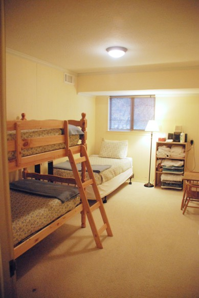 View of bunkroom downstairs